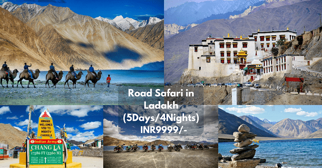 Road Safari in Ladakh package (5Days-4Nights)
